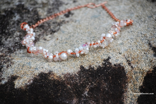 Copper Collection - White Waves Necklace