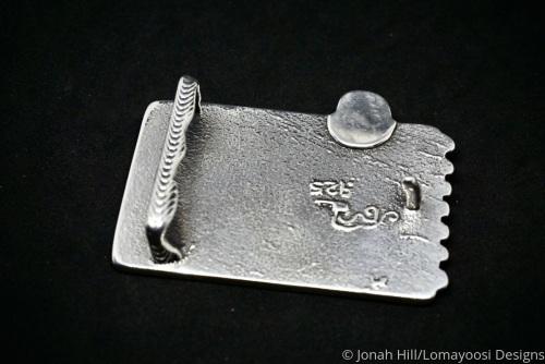 rear of Bigger Fish buckle by Jonah Hill/Lomayoosi Designs