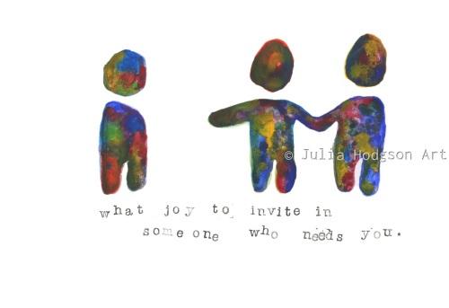 what joy to invite (sticker)