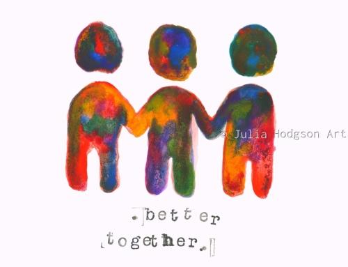 better together (mini print/sticker)