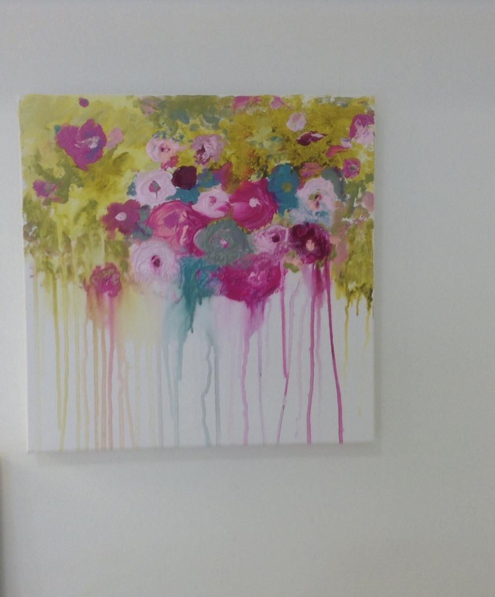 melting flowers framed (large view)