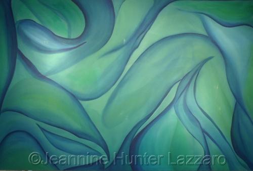 Green Ramapo Painting