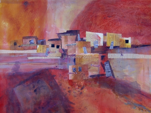 RED SKY AT NIGHT by jill krasner gallery