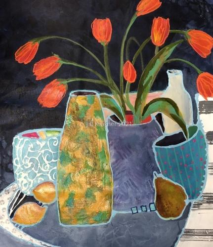 Orange Tulips by jill krasner gallery