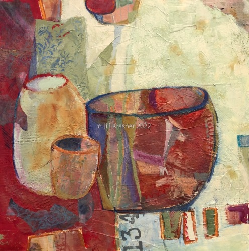 RED VESSEL STILL LIFE