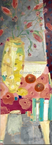 Yellow Vase With Polka Dots