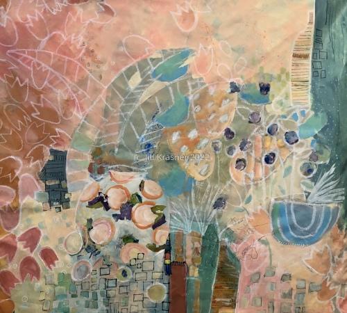 Porcelain Garden Jug by jill krasner gallery