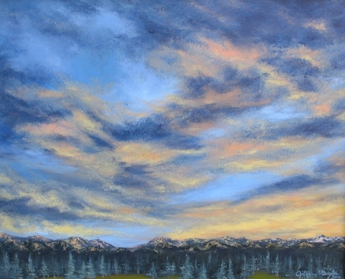 Mountain Sunset, 2010. Oil on canvas