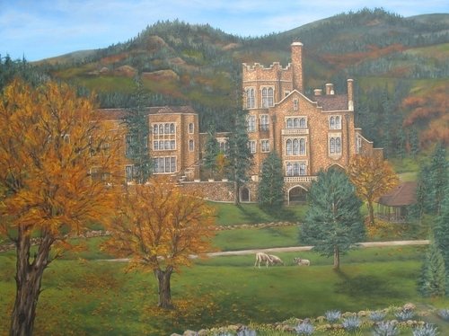 Glen Eyrie Castle, 2010. Oil on canvas