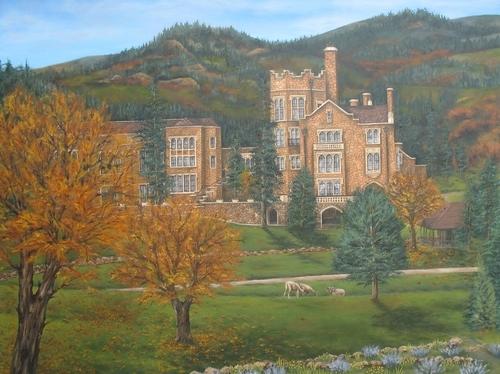 Glen Eyrie Castle, 2010. Oil on canvas