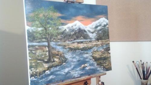 Psalms 1, 2012. Oil on canvas