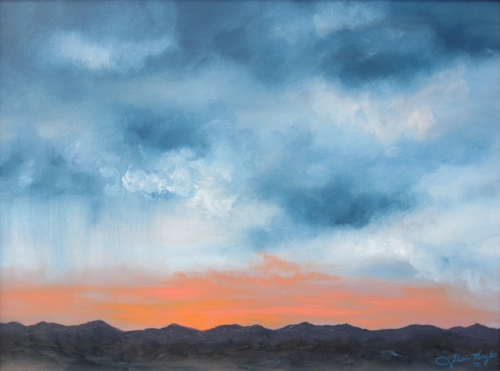 Mountain Silhouette, 2012. Oil on canvas