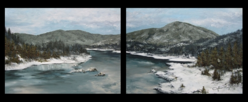 Montana River Diptych