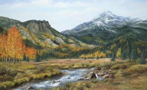 Colorado, 2009. Oil on canvas by JILLIAN MAYLES
