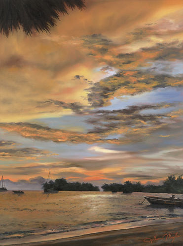 Jamaican Sunset, 2008. Oil on canvas