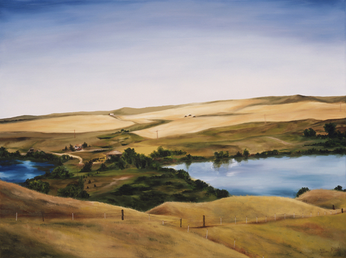 Steve & Karla's View, 2006. Oil on canvas