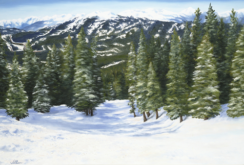 Our Ski Run, 2007. Oil on canvas by JILLIAN MAYLES