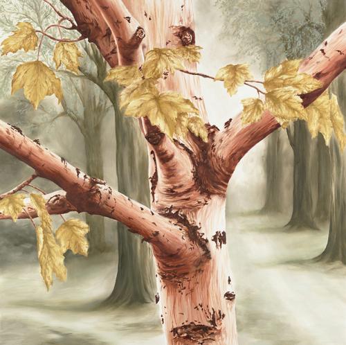 Earthtone Birch, 2007. Oil on canvas by JILLIAN MAYLES