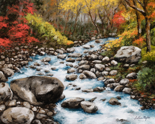 Mountain Creek, 2007. Oil on canvas by JILLIAN MAYLES