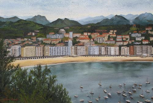 San Sabastian, Spain, 2006. Oil on canvas by JILLIAN MAYLES