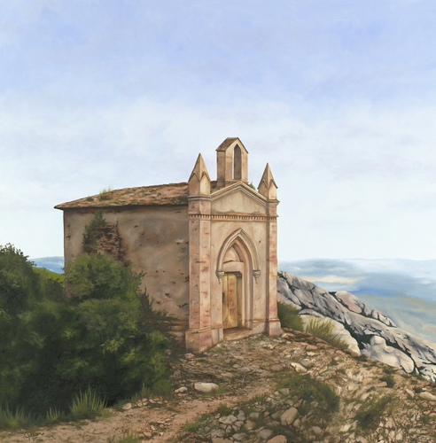 Montserrat Chapel, Barcelona. 2007. Oil on canvas by JILLIAN MAYLES