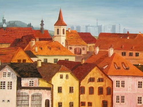 Prague, 2003. Oil on canvas by JILLIAN MAYLES