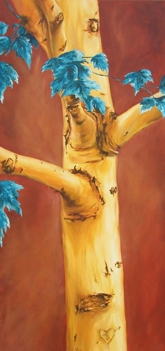 Yellow Tree, 2005. Oil on canvas