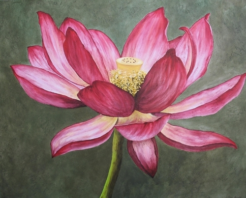 Lotus, 2007. Oil on canvas