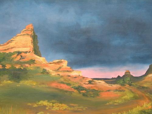 Utah Landscape, 2001. Oil on canvas