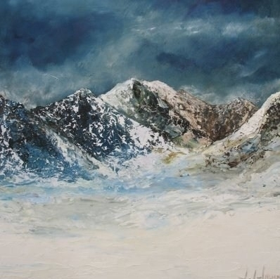 Majestic Mountains, 2006. Oil on board