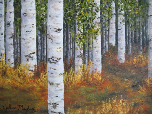 Aspen Hike, 2007. Oil on canvas