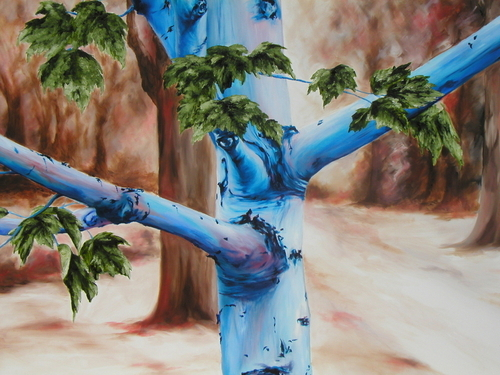 Mom's Tree, 2005. Oil on canvas