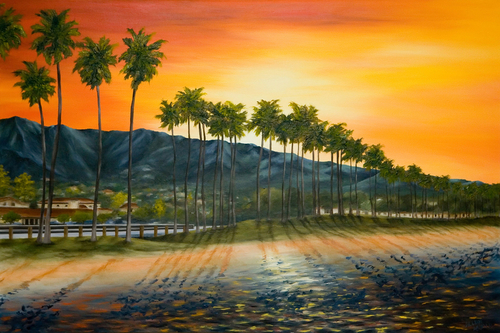 Santa Barbara, 2007. Oil on canvas