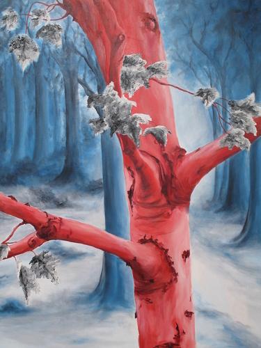 Red Birch, 2003. Oil on canvas