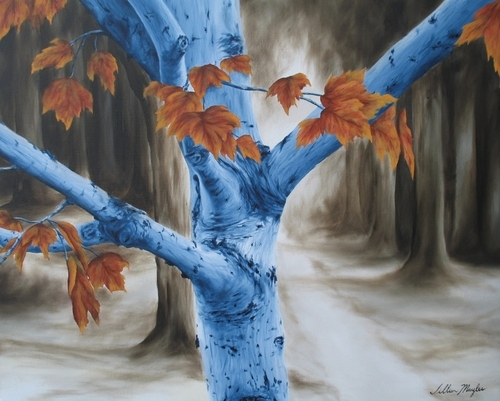 Autumn Birch Tree, 2007. Oil on canvas