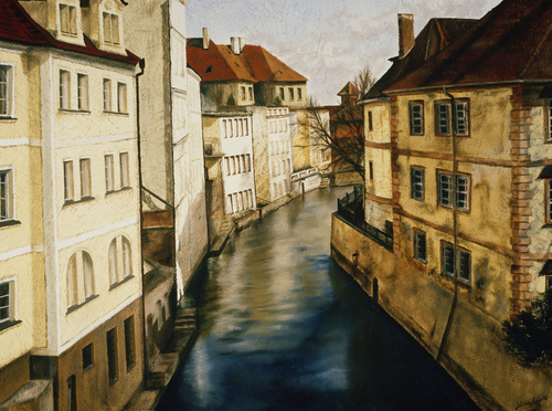 Prague, 2006. Oil on canvas