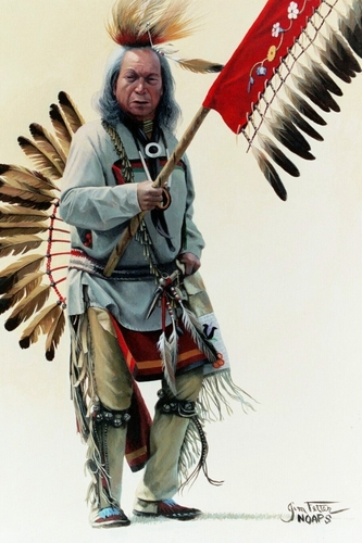 Eagle Feather Staff by www.jimfetter.com