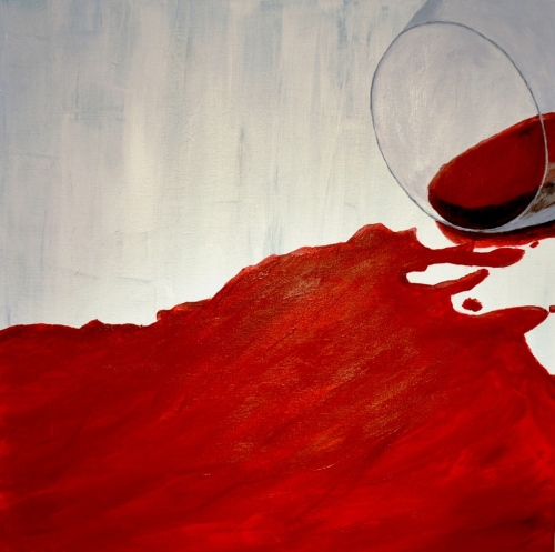 Red Wine Abstract 1.