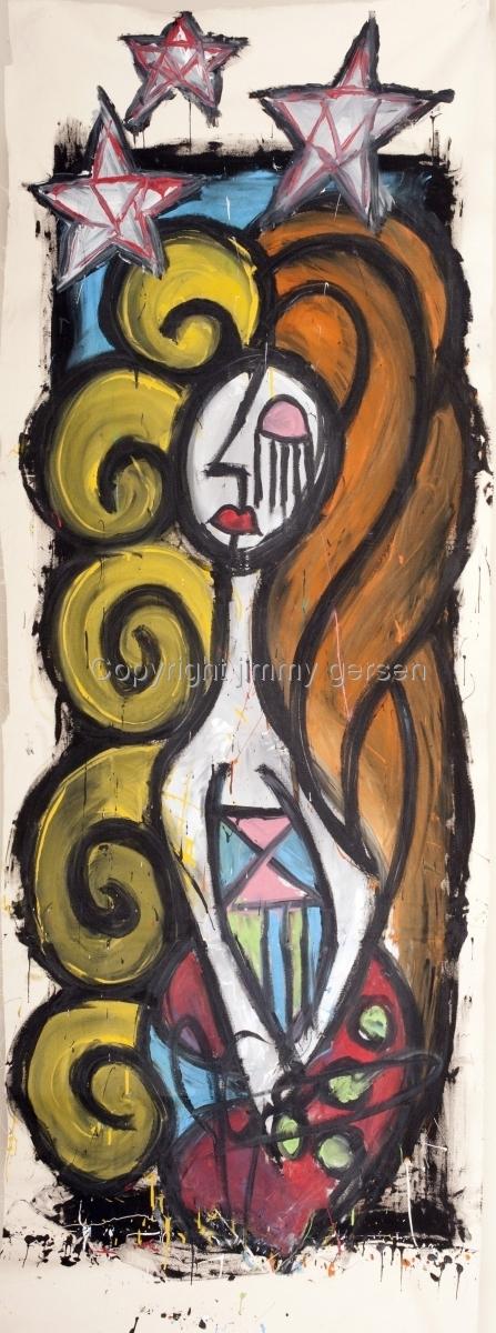original, painting, girl, curl, hair, blonde (large view)