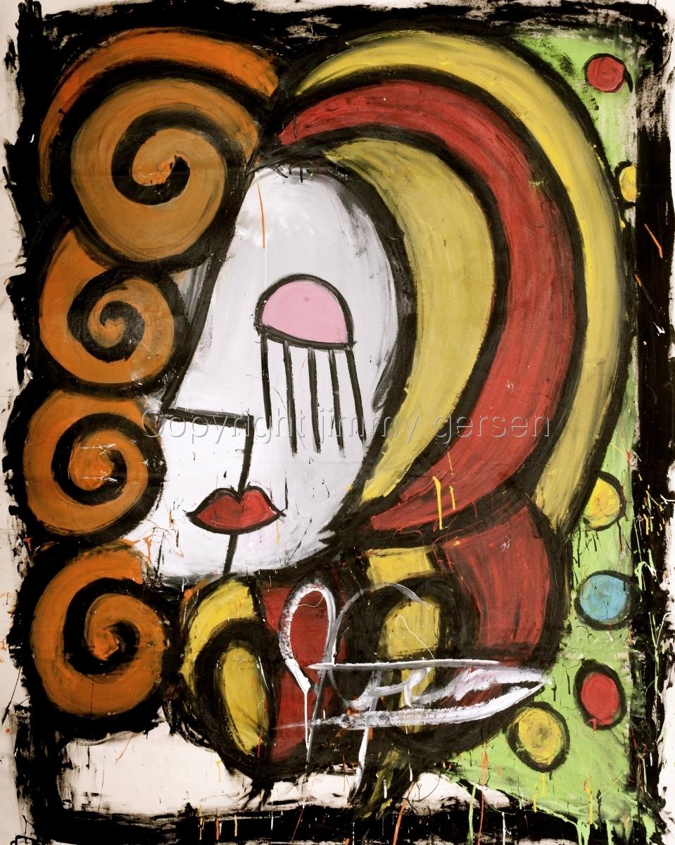 original, painting, girl, curl, hair, red head, orange (large view)