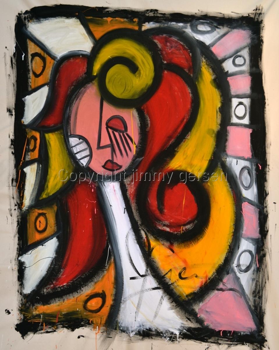 original, painting, girl, curl, hair, red head, jimmy gersen (large view)