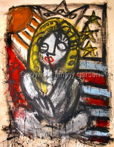 original, painting, girl, curl, hair, red head, BLONDIE (large view)