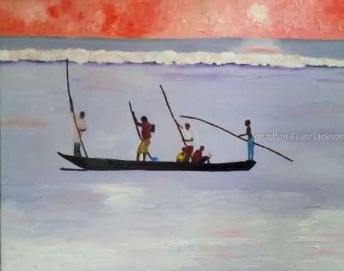 Zanzibar Fishermen by Jonathan Peter Jackson