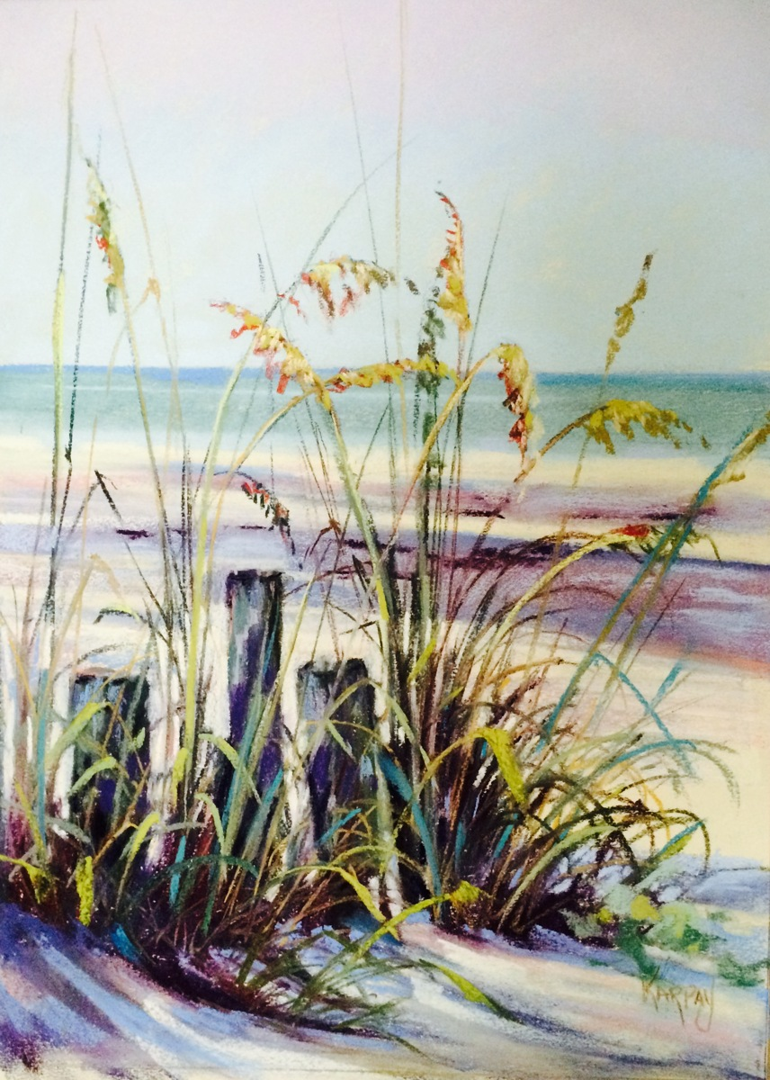 Sea Oats and Gulf (large view)