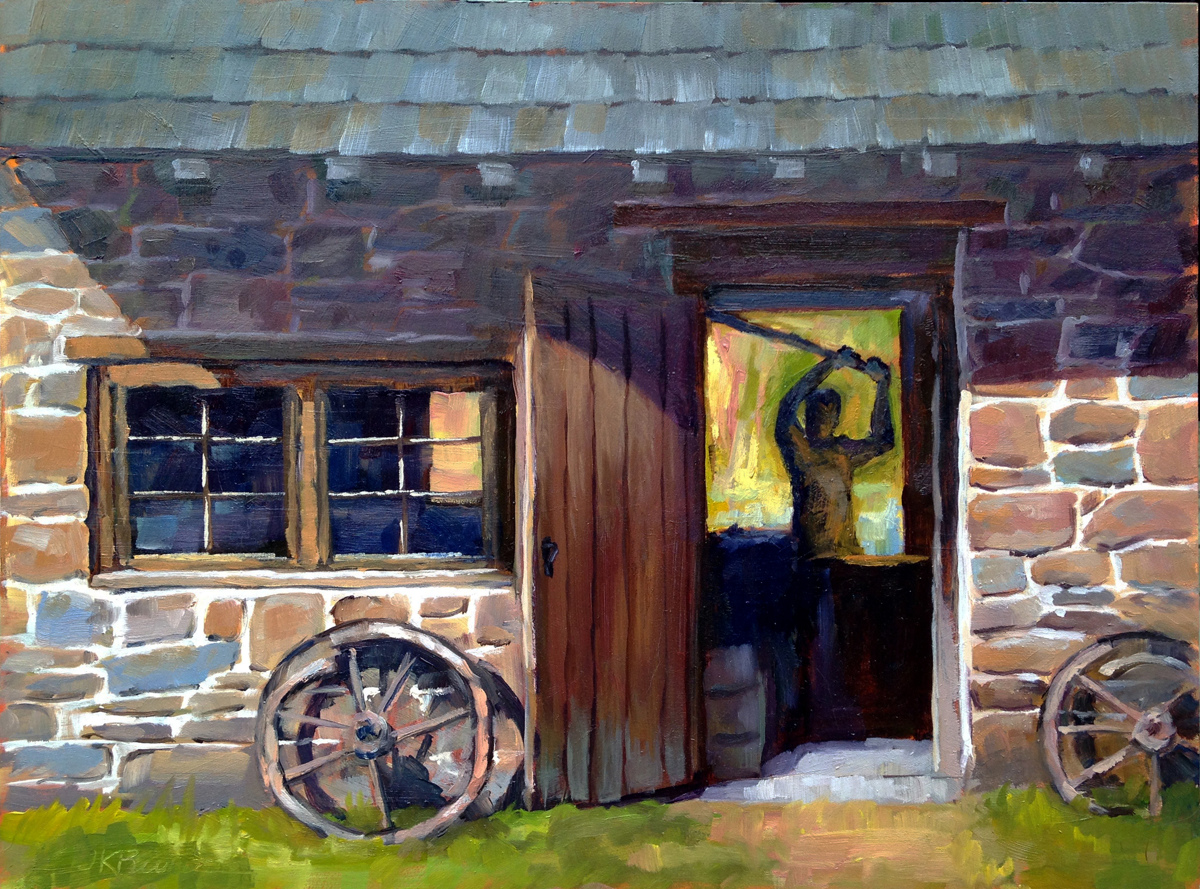 Blacksmith Shop at Newlin Grist Mill (large view)