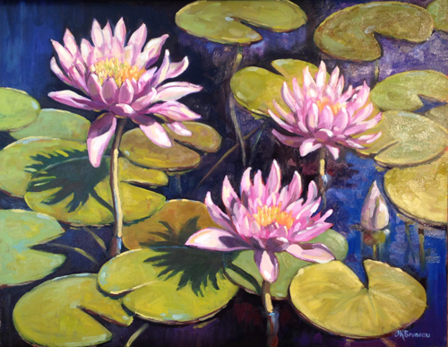 Water Lilies by Jeanne Kirby Bruneau
