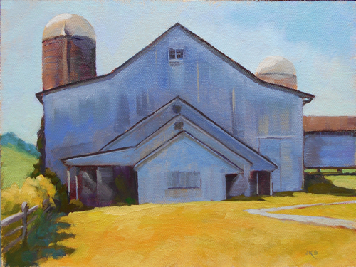Dairy Barn Blues by Jeanne Kirby Bruneau