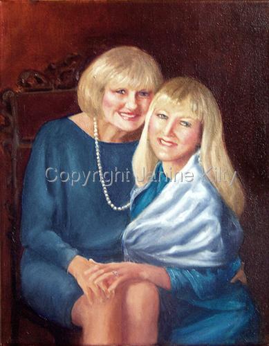 Double Portrait in Blue