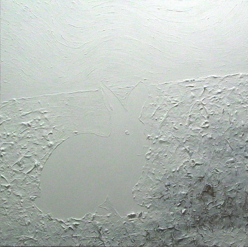 "Painting : ""White Rabbit in a Snowstorm"" (Original art by ..."