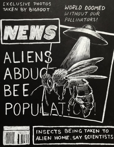 Aliens Abduct Bee Population